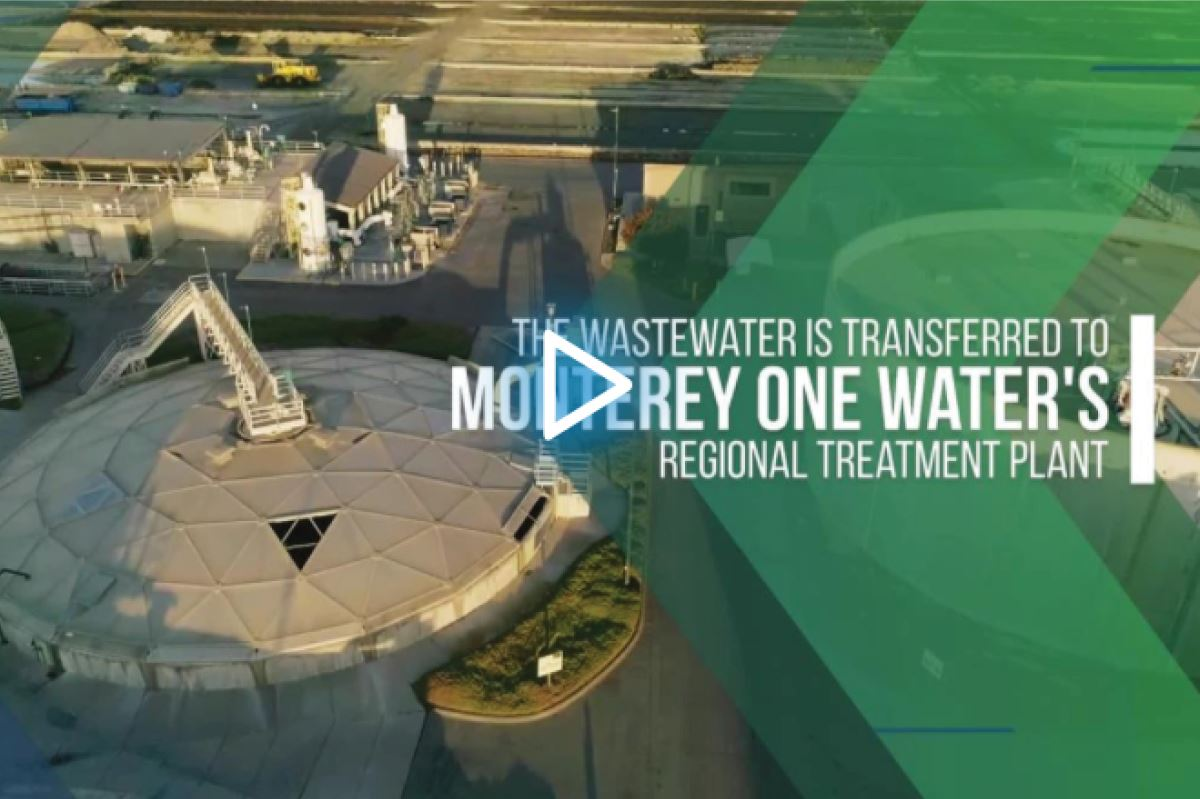 Scene from outreach informational video showing the Regional Treatment Plant